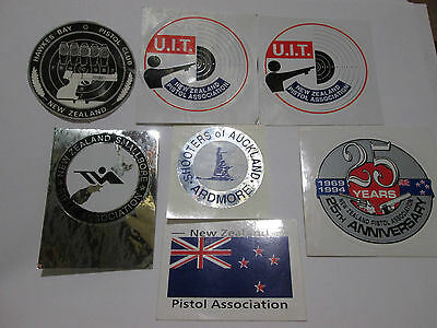 New Zealand Shooting related stickers lot Club & Association