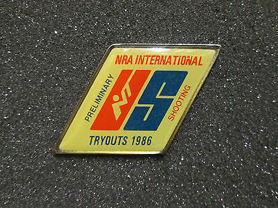 NRA International Preliminary Shooting Tryouts 1986 US Team Pin