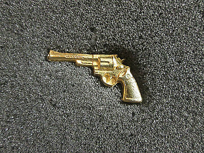 Rare Revolder Gun 357 Magnum Collectable pin Gold Plated