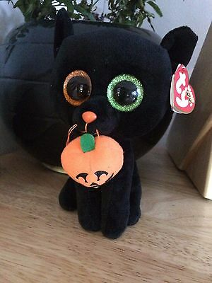 Ty Beanie Boos 15cm Shadow the Halloween Cat boo plush soft toy