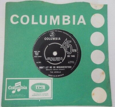"""The Animals Don't Let Me Be Misunderstood,club-A-Gogo,1965 Uk Press Columbia 7"""""""
