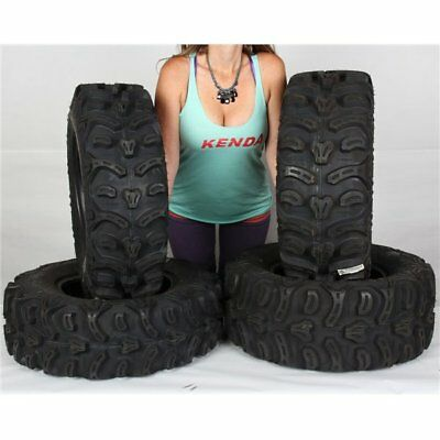 28x9-14, 28x11-14 Kenda Bearclaw HTR K587 8Ply Front Rear ATV Tire Kit - 4 Tires