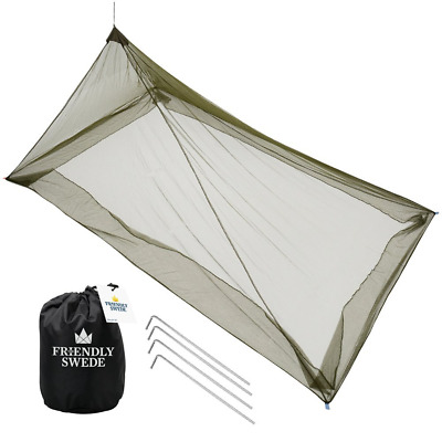 The Friendly Swede Pyramid Camping Bed Mosquito Net