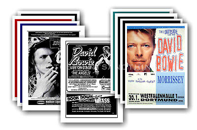 DAVID BOWIE  - 10 promotional posters - collectable postcard set # 12