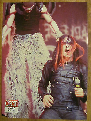 Cradle of Filth, Danni Filth, Double Full Page Pinup, Messugah