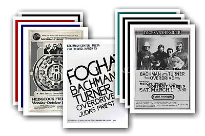 BACHMAN TURNER OVERDRIVE - 10 promotional posters - collectable postcard set # 1
