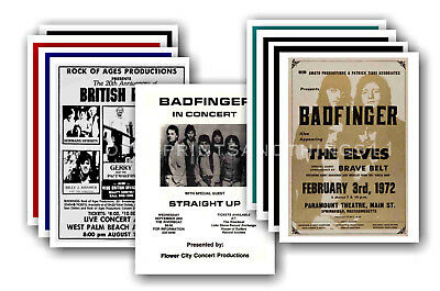 BADFINGER - 10 promotional posters - collectable postcard set # 1