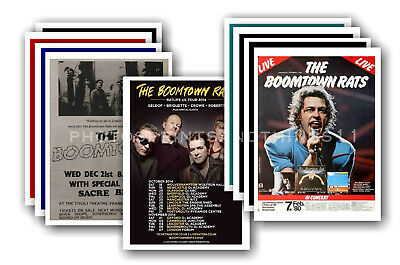 BOOMTOWN RATS - 10 promotional posters - collectable postcard set # 1
