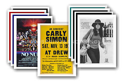 CARLY SIMON - 10 promotional posters - collectable postcard set # 1