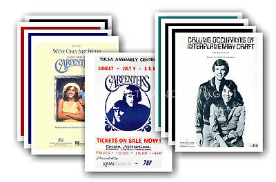 CARPENTERS - 10 promotional posters - collectable postcard set # 1