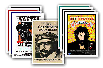 CAT STEVENS - 10 promotional posters - collectable postcard set # 1