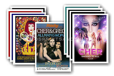 CHER - 10 promotional posters - collectable postcard set # 1