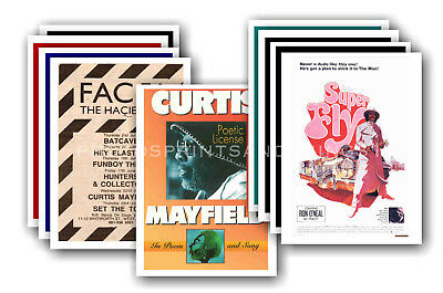 CURTIS MAYFIELD - 10 promotional posters - collectable postcard set # 1