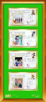 1996 Olympics Covers - Signed by Athletes - Framed