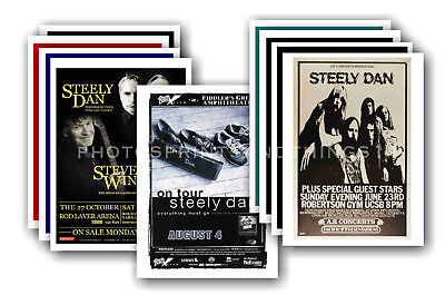 STEELY DAN - 10 promotional posters - collectable postcard set # 1