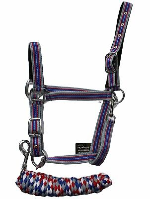 Stripey Headcollar and Leadrope Set- Matching RHINEGOLD NEW