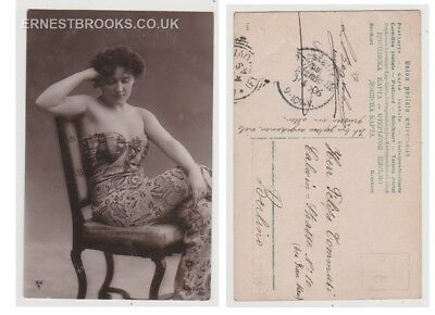 Early Postcard, Glamour,  Young Girl, 1906, RP