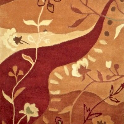 """Soft Thick New Plush Sculptured Carved Wool 27""""x46"""" Floral Area Rugs $275 retail"""
