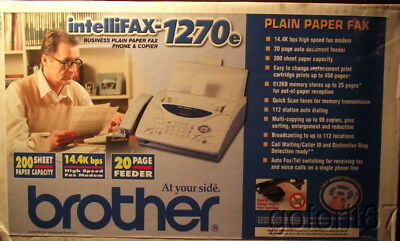 Brother IntelliFAX 1270e plain paper fax machine, NEW in factory carton unopened