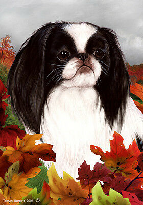 Large Indoor/Outdoor Fall Flag - Japanese Chin 13133