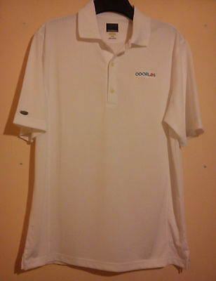 Greg Norman Golf Polo Shirt White Size L Large Odorlos The Shark Great Condition