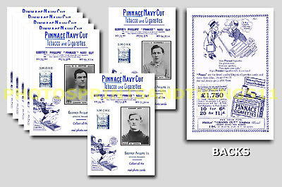 CARDIFF CITY - REPRO 1920's PINNACE A6 ADVERT CARDS - SET OF 18