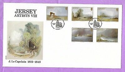 Jersey FDC Jersey Artists VIII J Le Capelain 3 November 1987 Unaddressed
