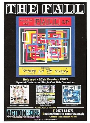 The FALL Country album 2003 UK FLYER / mini Poster 8x6 inches