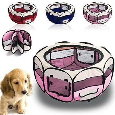 BN Large Foldaway Puppy Playpen With Carry Case Hot Pink