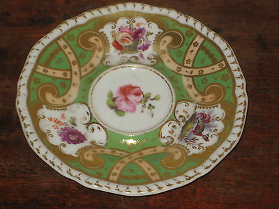 English Early 19Th Century Saucer Bowl Hand Painted Flower Designs