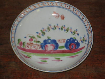 Unusual Regency Period Saucer Bowl Charming Painted Design