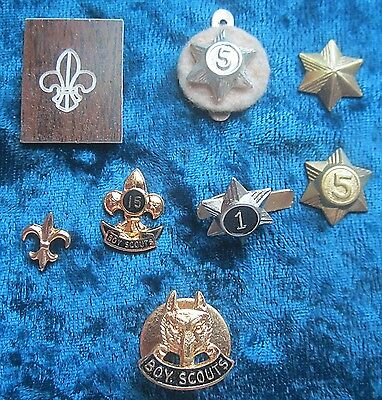Eight Different Canadian Boy Scout Pins