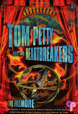 Set of 2 Tom Petty Fillmore Poster 1999 The Heartbreakers