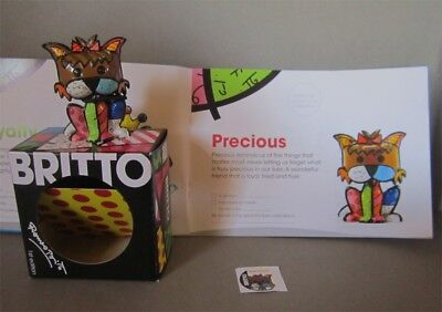 "Precious  First Edition Romero Britto 2.5"" Figurine NIB With Catalog Diary"