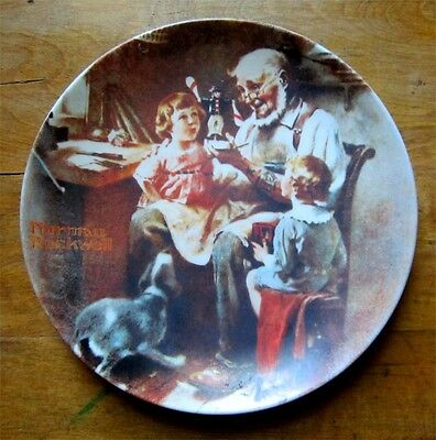 First Edition Norman Rockwell's The Toy Maker Collector's Plate 1977