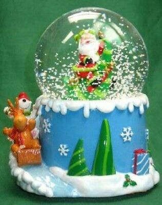 Christmas Santa Wind Up Snowglobe Plays Santa Claus Is Coming To Town