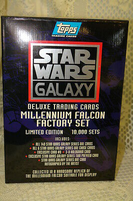 Star Wars Trading Card Set Millennium Falcon Factory Deluxe Complete in Box