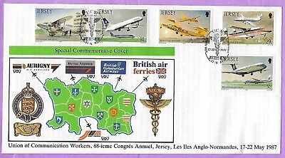 Jersey FDC Union of Communication Workers 17 May 1987 Unaddressed