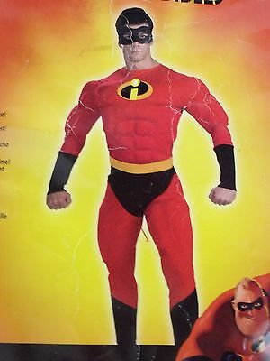 Mr. INCREDIBLE Costume W/ Muscle Chest XL - 42/46 Superhero Halloween Parties