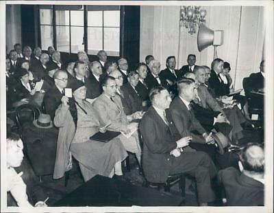 1933 Press Photo DC Senate Commerce Subcommittee Hearing - ner60545