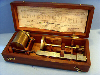 "ANTIQUE MAHOGANY CASED BRASS CHONDROMETER/CORN BALANCE BY ""CORCORAN & Co,LONDON"""