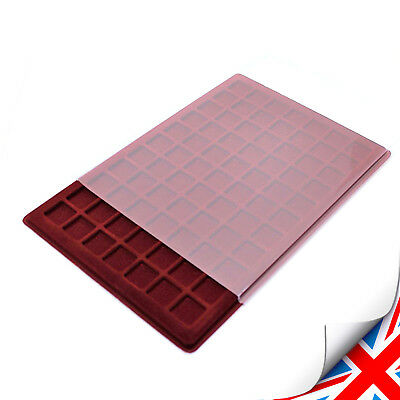 Red Coin COLLECTION TRAY for £2 50p Coins P-40 Compartment Size 34x34mm UK