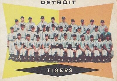 Topps 1960 #72 Detroit Tigers Team Card