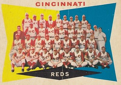 Topps 1960 #164 Cincinnati Reds Team Card
