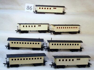 Set Of Seven  Ho Gauge Repainted Old Time Passenger Coaches-No Reserve