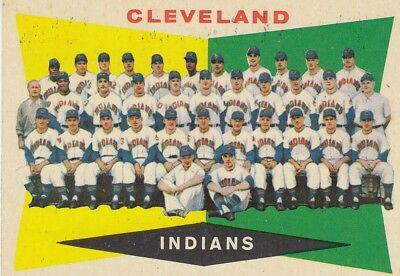 Topps 1960 #174 Cleveland Indians Team Card