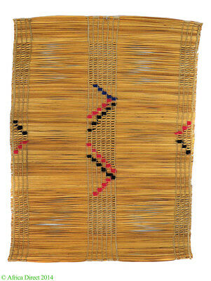 Zulu Placemat or Eating Mat Izithebe Woven Embroidery Africa SALE WAS $150