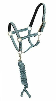 NEW Centaur Cushion Padded Halter With Lead - Aqua/Gray - Size: Cob