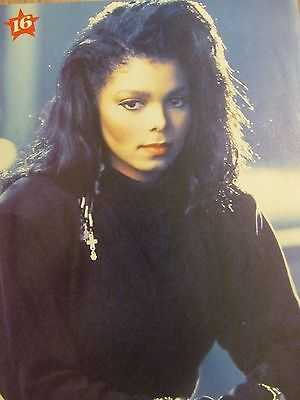 Janet Jackson, Fred Savage, Double Full Page Vintage Pinup