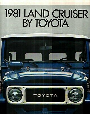 1981 Toyota Land Cruiser Deluxe Color Sales Catalog